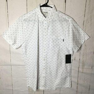 Hurley Mens Shirt Button Front Tailored Fit M NWT